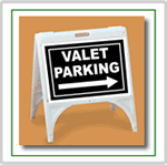 ZQuick Sign - Valet Parking with Arrow