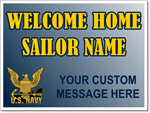 Navy Yard Sign Template. Welcome Home Your Sailor!
