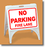 ZQuick Sign - No Parking Fire Lane