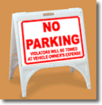 ZQuick Sign - No Parking Violators Will Be Towed At Owner's Expense