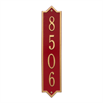 Norfolk Vertical Wall Plaque - Standard - Red / Gold