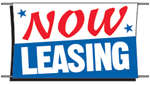 Now Leasing Banner - 3 x 5 Slogan