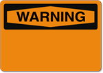 Custom OSHA Warning Sign - Aluminum