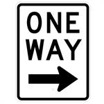 One Way 18x24 with Right Arrow Sign