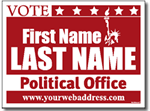Political Signs with Stands - Design P102 - Statue of Liberty