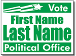 Political Signs with Stands - Design P106 - Star Banner