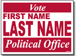 Political Yard Sign Template - Design P11 Vote