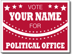 Yard Sign Template for political campaigns. Fire Red shown.