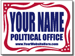 Political Signs with Stands - Design P201 with Flag Banner