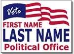 Political Signs with Stands - Design P203 - Flag Design