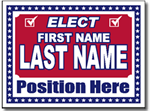 Political Signs with Stands - Design P204 - Star Border