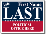 Political Signs with Stands - Design P205 - Two Color Political Design