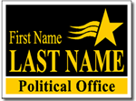 Political Signs with Stands - Design P206 - Two Color Political Design