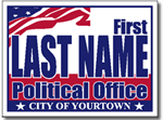 Political Signs with Stands - Design P208 - Two Color Political Sign