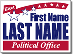 Political Signs with Stands - Design P210 - Two Color Political Design