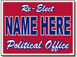 Political Yard Sign Design P22 - One Click Kit - Two Color Full Reverse