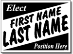 Political Yard Signs - Poster Board Sign One Click Kit - Style P31