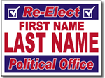 Political Signs with Stands - Design P32 Two Color Full Reverse