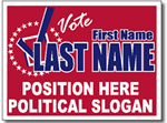 Political Signs with Stands - Design P72 - Two Color Election Signs