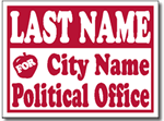 Political Signs with Stands - Design PSSW9 - School Board Design