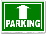 Parking With Up Arrow 24x18 Yard Sign - 1 Color