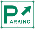 Parking Sign with Diagonal Arrow 18 x 15