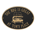 Personalized Grill Plaque - Black / Gold