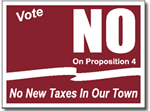 Yard Sign Template for political campaigns. Maroon on white shown.