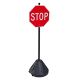 Rolling Stop Sign with Portable Pole