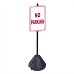 No Parking Sign with Portable Pole