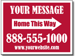 Real Estate Yard Sign Design RE03 - One Click Kit - Arrow Signs