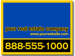 Custom Real Estate Yard Sign Design RE08 with your name.