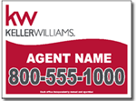 Custom Keller Williams Real Estate Yard Sign Design - One Click Kit