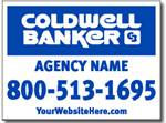 Coldwell Banker Real Estate Yard Sign Design
