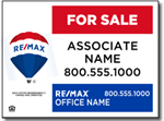 Re/Max Real Estate Yard Sign Design