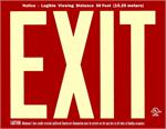 Photoluminescent Exit Signs - 50' Visibility - UL 924 - Red