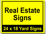 Real Estate Signs - 25 Signs and Stakes 24x18