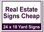 Real Estate Signs Cheap - 50 Signs and Stakes 24x18