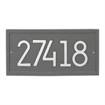 Rectangle Modern Personalized Wall Plaque - Pewter / Silver