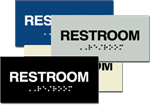 ADA Signage - Restroom Braille Sign - 6'' x 3''