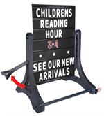 Rolling Swinger Sidewalk Sign Kit - Black Sign Face