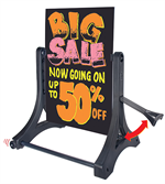 Rolling Swinger Write On / Wash Off Dry Erase Sign - Black