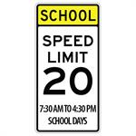 School Zone Speed Limit 20