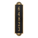 Shell Vertical Wall Plaque - Estate - Black / Gold