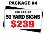 24 x 18 Yard Signs - 50 Signs 1 Color Free Stakes Free Shipping