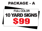 24 x 18 Yard Sign Package #A - Custom Upload - 10 Signs with Free Shipping