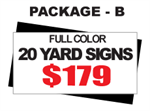 24 x 18 Yard Sign Package #B - Custom Upload - 20 Signs with Free Shipping
