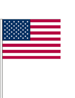 Plastic Hang Flags - American Flag Fourth of July - 7'' x 5 1/2''