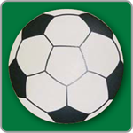 Soccer Ball Yard Sign - Blank