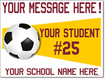 Custom Soccer Sign - 24x18 Yard Sign with Stake